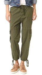 James Perse Slim Cropped Cargo Pants Tropper