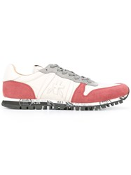 Premiata Contrast Panel Sneakers Nude Neutrals