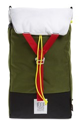 Topo Designs Men's 'Y Pack' Backpack Green Olive Red