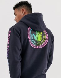 Body Glove Sharpie Fade Hoodie With Back Print In Navy