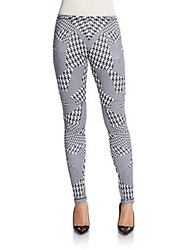 Mcq By Alexander Mcqueen Houndstooth Print Leggings