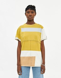Eckhaus Latta Lapped Oversized T Shirt In Atmospheric Screen Print Size Extra Small 100 Cotton
