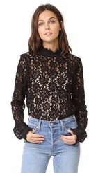 Wayf Berklin Lace Top Black Lace