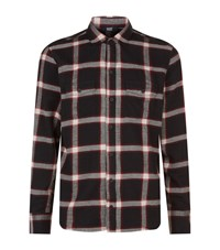 Paige Large Check Shirt Male Red