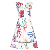 Dorothee Schumacher Rock Printed Cotton Dress Multicolored