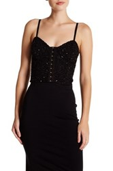 Haute Hippie Sequin Bustier Black
