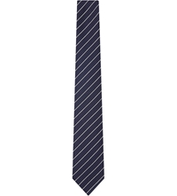 Tiger Of Sweden Diagonal Striped Tie Navy