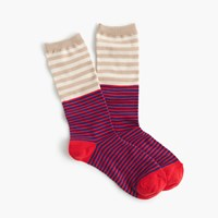 J.Crew Trouser Socks In Colorblock Stripe