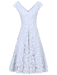 Jolie Moi 50S Lace Fit And Flare Dress Grey