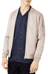 Topman Men's Faux Suede Bomber Jacket