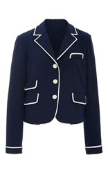 Tory Burch Carrie Blazer Blue White