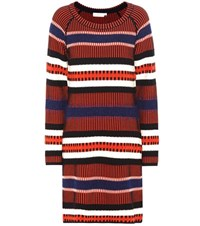 Tory Burch Monterey Knitted Sweater Dress Multicoloured