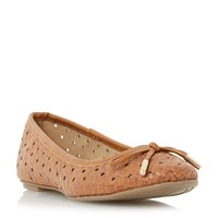 Head Over Heels Horizon Woven Ballet Pumps Tan