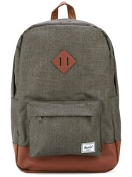 Herschel Supply Co. 'Heritage' Backpack Men Leather Polyester Polyurethane One Size Grey