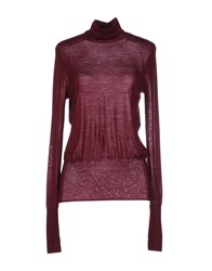 Tara Jarmon Knitwear Turtlenecks Women Maroon