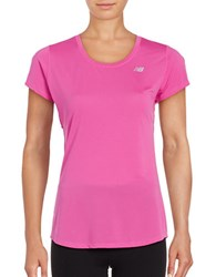 New Balance Accelerate Short Sleeved Performance Tee Fusion