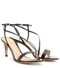 Gianvito Rossi Carlyle Patent Leather Sandals Black