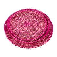 A By Amara Dravite Trays Set Of 3 Pink