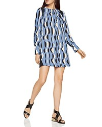 Bcbgmaxazria Karla Deco Graphic Print Shift Dress Bright Chambray Combo