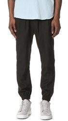 Shades Of Grey Pleated Joggers Black Textured Woven