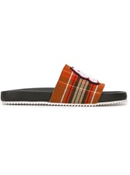 Swear Tartan Sliders Red