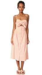 Sea Tie Front Cutout Dress Pink
