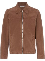 Our Legacy Moleskin Lightweight Zipped Jacket Brown