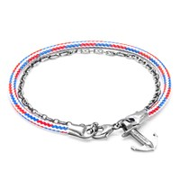 Anchor And Crew Filey Rope Silver Braceletproject Rwb 17Cm