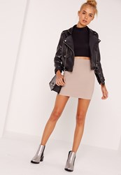 Missguided Tall Nude Scuba Mini Skirt