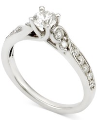 Macy's Diamond Swirl Engagement Ring 3 4 Ct. T.W. In 14K White Gold