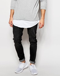 New Look Skinny Jeans In Washed Black