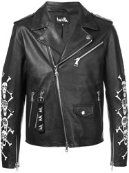 Haculla Apocalypstick Patch Biker Jacket Black