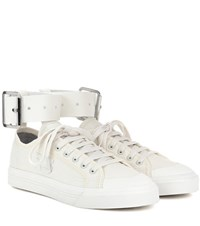 Raf Simons Spirit Buckle Canvas Sneakers White