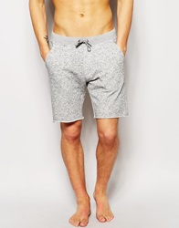 Asos Jersey Shorts With Raw Edge Greymarl