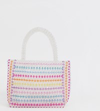 Skinnydip Samira Striped Multi Coloured Beaded Bag
