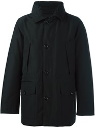 Woolrich Buttoned Hooded Jacket Black
