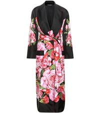 Dolce And Gabbana Floral Printed Silk Coat Multicoloured