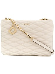 Donna Karan Lara Quilted Crossbody Bag Nude And Neutrals