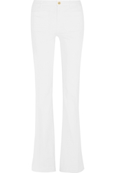 Michael Michael Kors Stretch Cotton Twill Flared Pants