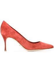 Sergio Rossi Pointed Toe Pumps Yellow And Orange
