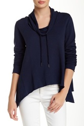 Candc California Cowl Neck Hoodie Blue