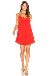 Bishop Young Front Cross Strap Dress Red