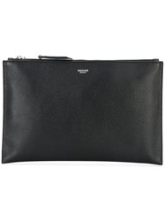 Rochas Zip Clutch Women Deer Skin One Size Black