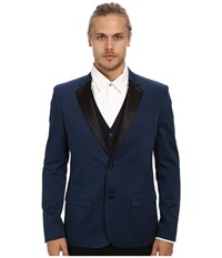 Original Penguin Satin Tux Blazer Dress Blues Men's Jacket Navy