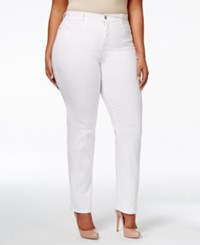 Styleandco. Style Co. Plus Size Tummy Control Slim Leg Jeans Only At Macy's Bright White