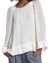 Plenty By Tracy Reese Contrast Blouse Ecru
