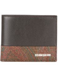 Etro Printed Bi Fold Wallet Brown
