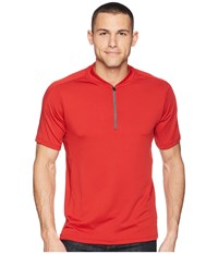 Perry Ellis Pe360 Active Mesh Zip Polo Bright Haute Red Clothing