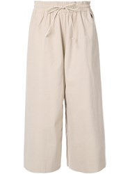 Toogood Wide Leg Cropped Trousers Brown