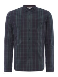Linea Crossier Large Tartan Check Shirt Navy